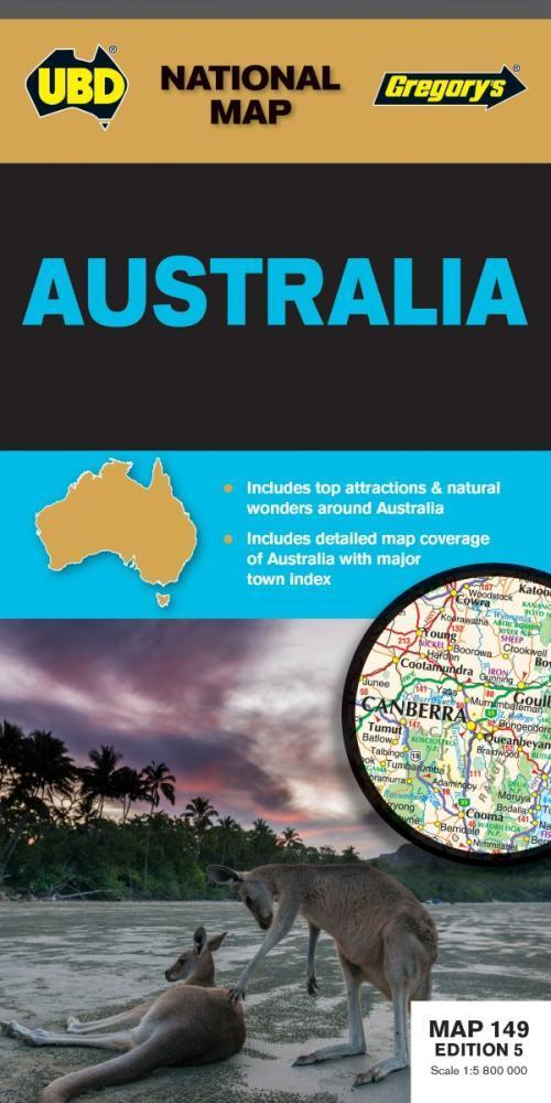 Australia Map 149 5th Edition