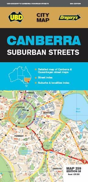 Canberra Suburban Streets Map 259 38th ed