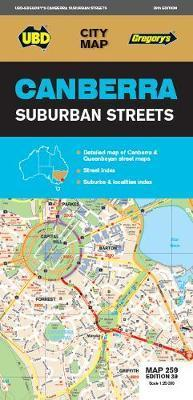 Canberra Suburban Streets Map 259 39th ed