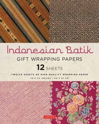 Indonesian Batik Gift Wrapping Paper Book -  12 Sheets of High-Quality 18 X 24 Inch Wrapping Paper