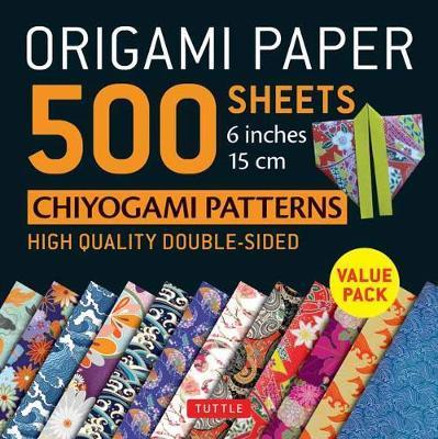 "Origami Paper 500 sheets Chiyogami Patterns 6"" 15cm - Tuttle Origami Paper: High-Quality Origami Sheets Printed with 12 Different Designs: Instructions for 8 Projects Included"
