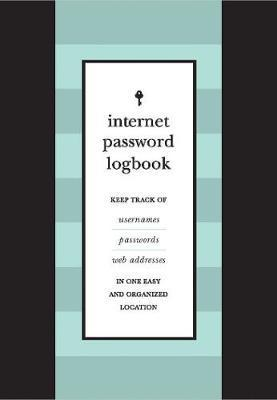 Internet Password Journal (Black Leatherette)