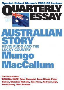 Quarterly Essay 36 - Australian Story: Kevin Rudd and the Lucky Country