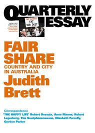 Quarterly Essay 42 - Fair Share - Country and City in Australia