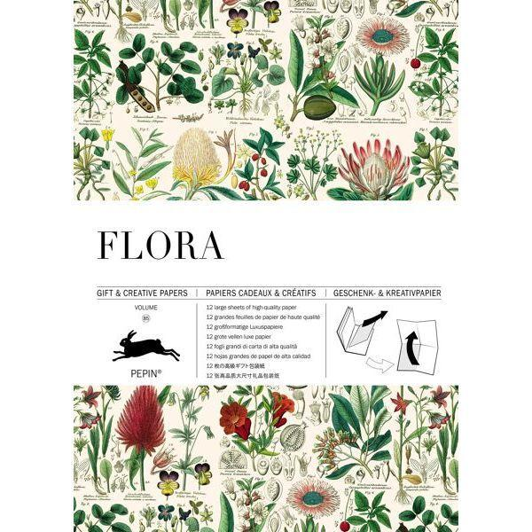 Wrapping Paper Book - Flora
