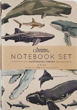 Australian Geographic Notebook Set Marine 2 pack