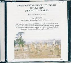 Monumental Inscriptions of Goulburn New South Wales CD - S626