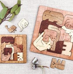Wooden Square Australian Animal Puzzle