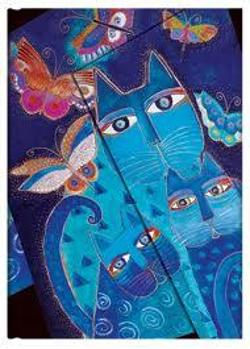Blue Cats and Butterflies - Notebook