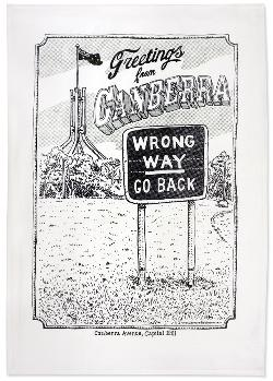 Tea Towel - Wrong Way Go Back