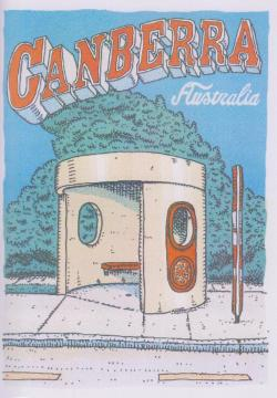 Card - Bus Shelter - Greetings From Canberra
