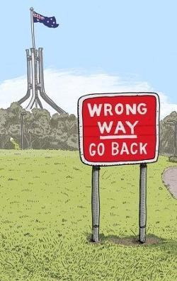 Card - Wrong Way Go Back - Greetings From Canberra - Card 9