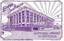 National Library of Australia Tea Towel - Purple - Newcastle Productions