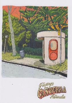 Miller Street Bus Shelter Greeting Card - Greetings From Canberra - Card 22