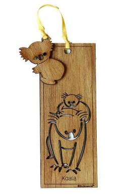 Wooden Bookmark - Koala
