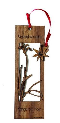 Wooden Bookmark - Kangaroo Paw