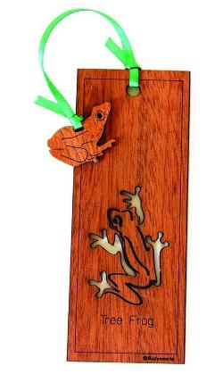Wooden Bookmark - Tree Frog
