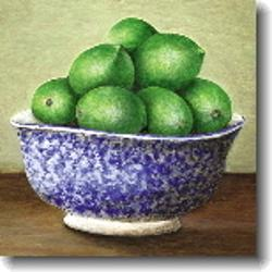 Small Card - Limes, Blue Bowl