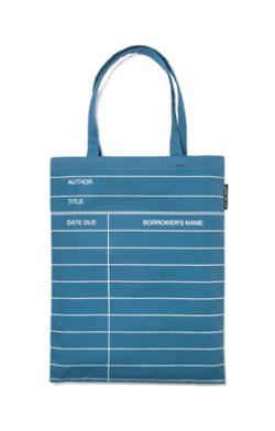 Tote Bag - library card (denim)