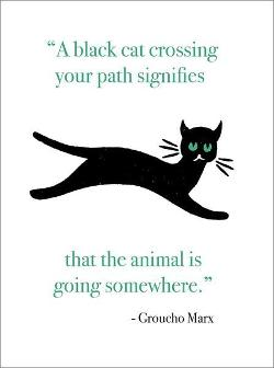Card - Black Cat Crossing Your Path