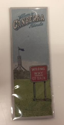 Hand Cut Bookmark - Wrong Way Go Back