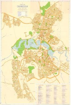"Map Poster - ACT06 : ""Tourist map Canberra, Australian Capital Territory"", compiled and drawn by the Survey Branch, Dept. of the Interior, Canberra, A.C.T, 1968."