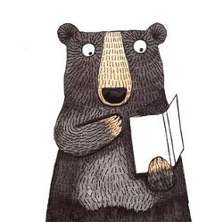 Card - Bear Reading