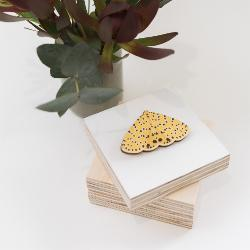 Brooch - The Leopardess Moth