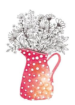 Card - Jug of Flowers