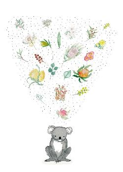 Card - Koala and Flowers