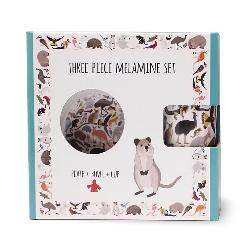 Australian Animal Three Piece Melamine Set - Cup, Plate and Bowl