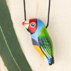 Necklace - Gouldian Finch Songbird Whistle