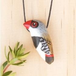 Necklace - Diamond Firetail Songbird Whistle