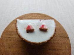 Earrings - Gold Lined Mountain Studs