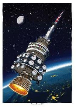 A3 Print - Telstra Tower in Space