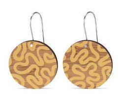 Earrings - Yellow Brain Coral