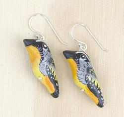 Earrings - Spotted Pardalote Songbird