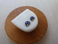 Earrings - 3 Dot Halfmoon Studs