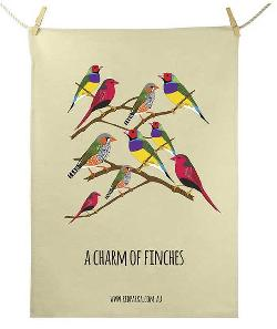 Tea Towel - Charm of Finches
