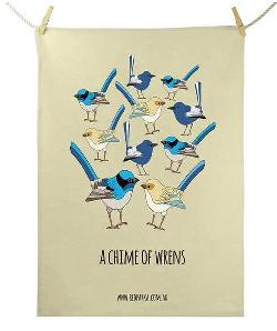 Tea Towel - Chime of Wrens