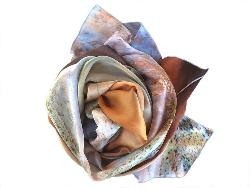 Silk Scarf - Lake Eyre - Small