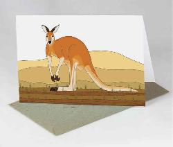 Card - Red Kangaroo