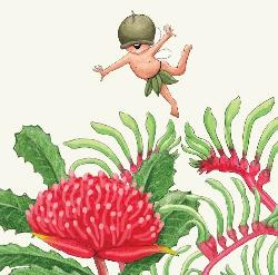 Card - Gumnut baby and waratah (Small)