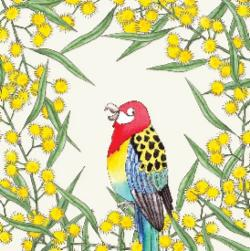 Card - Rosella and Wattle
