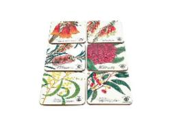 Set of 6 Botanical Coasters - Royal Botanic Garden