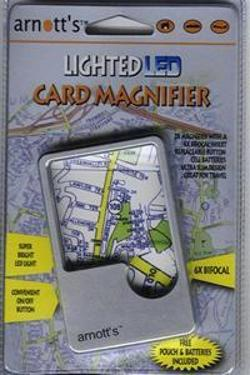 Lighted LED Card Magnifier