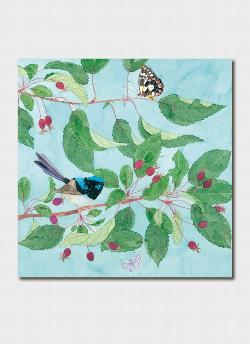 Card - Fairy Wren and Crab Apples