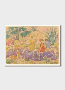 The Picnic c1925 Greeting Card