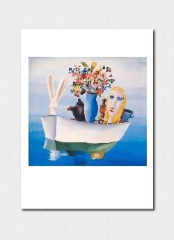 Alice in the Boat (All on a Summer's Day) 1956 Greeting Card