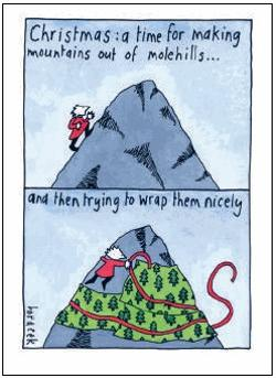 Christmas Card - Molehills and Mountains